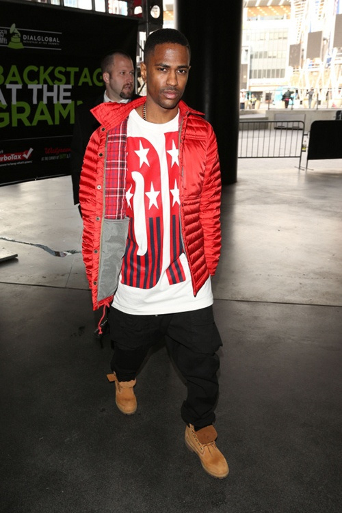 big-sean-staples-center-grammy-rehearsals-dkny-opening-ceremony-spring-92-stars-and-stripes-t