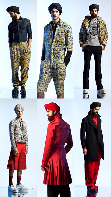 Jean Paul Gaultier Menswear Spring 2013 turban india fashion