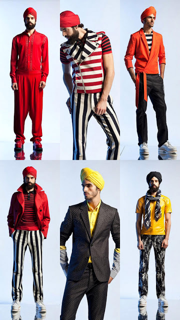 Jean Paul Gaultier Menswear Spring 2013 turban indian fashion